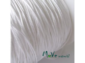 Nylonová pletená šňůra - 1mm/3m, bílá