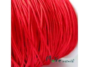 Nylonová pletená šňůra - 1mm/3m, červená