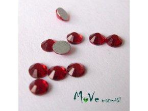 Skleněný kabošon 3,8-4mm/10ks, červený