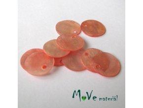 Perleťové penízky 13mm, 10ks, růžová
