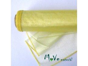 Organza žlutá š. 35 cm/ 1m
