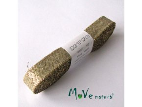 Stuha zlatá, 15mm, 5m