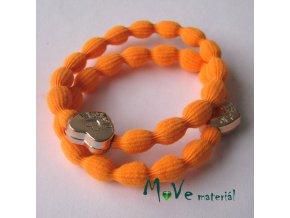 Sada gumiček na úpravu, 1pár, neon. oranžová