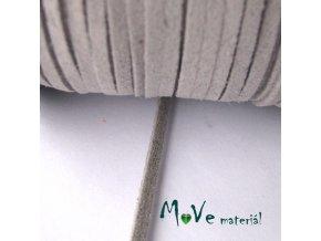 Plochá syntetická kůže, 1m, sv. šedá