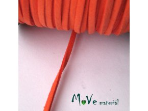 Plochá syntetická NEON - kůže, 1m, oranžová