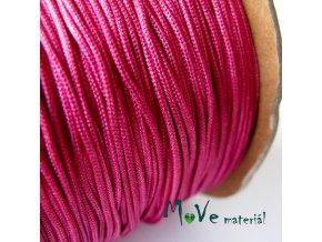 Nylonová pletená šňůra - 1mm/3m, fuchsiová