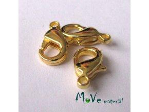 Karabinka kovová 7x12mm, 3ks, zlatá