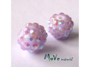 Pryskyřičný korálek - kulička 12x10mm,1ks, lila