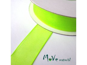 Šifónová stuha 20mm, 1m neonově zelená
