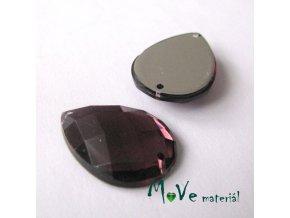 Plastový našívací kámen 15x21mm, 1ks, fialový