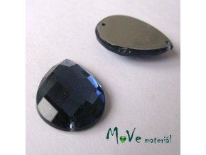 Plastový našívací kámen 15x21mm, 1ks, modrý