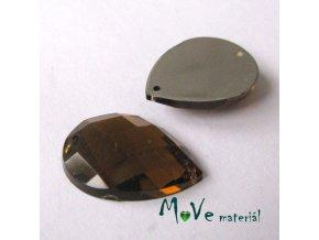 Plastový našívací kámen 15x21mm, 1ks, jantarový