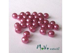 České voskové perle 5mm, 30ks (cca 5g), šeříkové