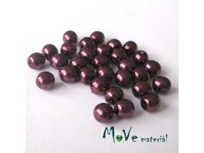 České voskové perle 5mm, 30ks (cca 5g), vínové