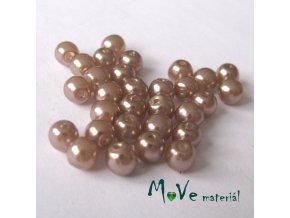 České voskové perle 5mm, 30ks (cca 5g), béžové