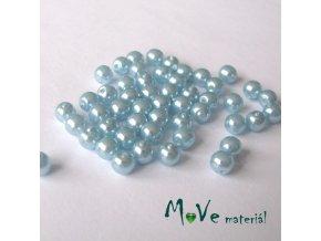 České voskové perle 4mm, 50ks, modré