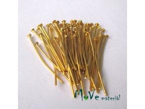Ketlovací nýt zlatý 30mm, 50ks
