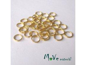 Dvojitý kroužek průměr 8mm, 40ks, zlatý