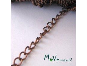 Řetízek kovový šíře 5x3,5mm, délka 1m, měď