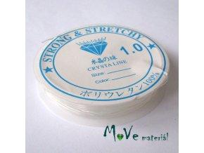 Vlasec silikon elastický 1,0mm návin 4m průhledný
