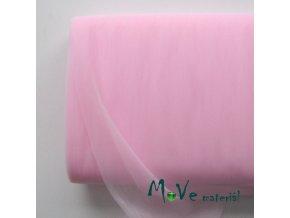 svatební tyl jemný sv. růžový 50 cm/ š 280cm