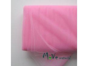svatební tyl jemný stř. růžový 50 cm/ š 280cm