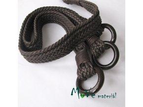 Ucha na tašku proplétaná délka 54cm, 2ks, hnědá