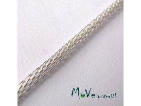 Hadí řetízek 2,4mm, 1m, stříbrný