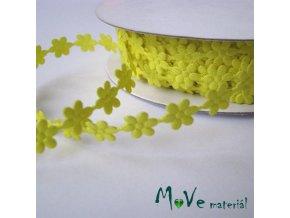 Aplikace květinky žlutá - šíře 7mm, 1m