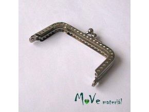 Kabelkový ( peněženkový) rámeček 4x7,5cm, stříbrný