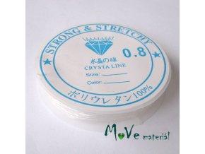 Vlasec silikon elastický 0,8mm návin 5m průhledný
