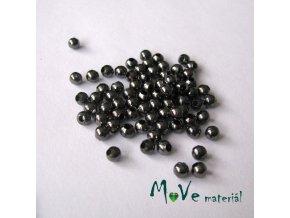 Korálek hladký kovový 3,2mm/4g, antracit