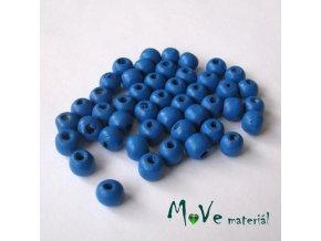 Dřevěný korálek 8x7mm, 7g, modrý