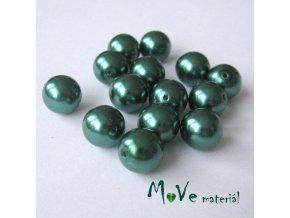 České voskové perle 10mm, 14ks, zelené