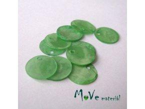 Perleťové penízky 13mm, 10ks, zelené