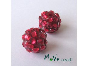 Pryskyřičný korálek - kulička 12mm,1ks, červený