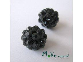Pryskyřičný korálek - kulička 12mm,1ks, černý