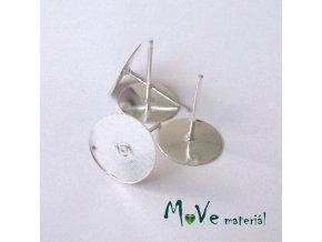 Vlepovací puzeta 4ks (2páry), stříbrná