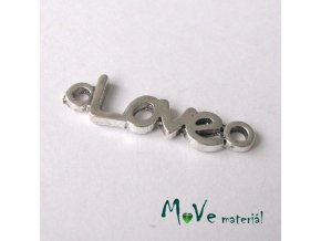Mezikus 24x7x2mm LOVE, 2ks
