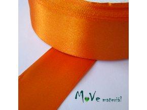 Stuha atlasová jednolící 25mm, 1m, oranžová