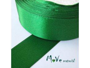 Stuha atlasová jednolící 25mm, 1m, zelená
