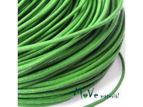 Kulatá přírodní kůže 1,5mm/1m, zelená