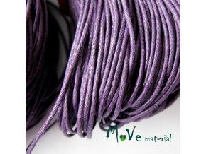 Šňůra voskovaná bavlněná 1mm, 3m, fialová I