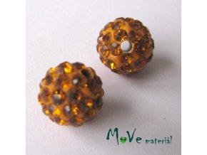 Polymerový korálek - kulička 10mm,1ks, oranžový