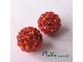 Polymerový korálek - kulička 10mm,1ks, červený