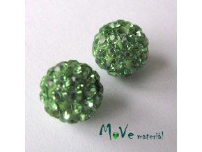 Polymerový korálek - kulička 10mm,1ks, zelený
