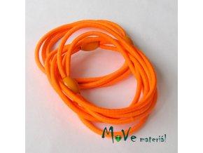 Sada kulatých gumiček na úpravu, 3ks, neon. oranžová