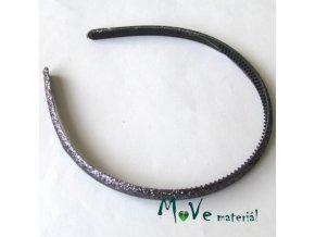 Čelenka jednoduchá potažená lurexem šedofialová