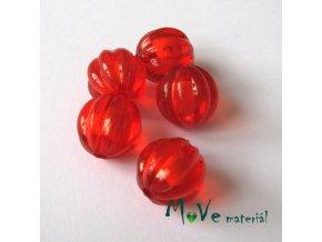 Korálek plast kulička 12mm, 5ks, červený