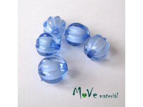 Korálek plast kulička 12mm, 5ks, modrý
